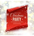 Christmas party invitation vector image