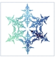 watercolor beautiful snowflake on a white vector image