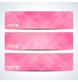 Pink set of banners Background with pink vector image