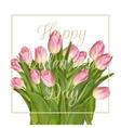 Bunch of pink tulips EPS 10 vector image vector image