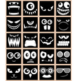Avatars Black vector image