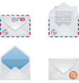 envelope icon set vector image