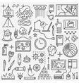 Art - set icons vector image