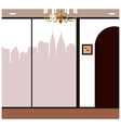 Boutique Shop City View vector image