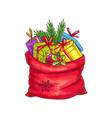 christmas bag vector image