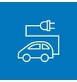 Electric car line icon vector image