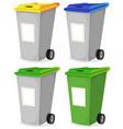 set of urban recyclable trash bin vector image