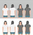 Women t-shirt design template vector image