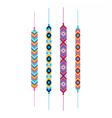 Set of multicolor friendship hippy bracelets vector image