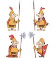 humor cartoon knights set vector image