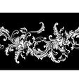 Ornamental border frame Baroque pattern seamless vector image