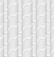 Colored 3D gray striped ribbons vector image