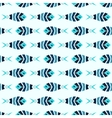 Flock of blue mosaic fish pattern seamless vector image