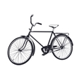 gray bicycle vector image