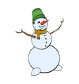 Happy winter snowman isolated on white background vector image
