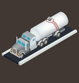 isometric white tanker truck for vector image