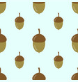 pattern with acorns vector image