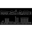 Set of silhouettes cityscapes vector image