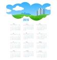 Summer Theme 2016 Calendar vector image