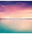 sunset blurred background with typography text - vector image