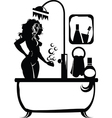 Woman in a bath vector image