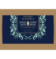 navy blue wedding invitation vector image