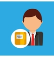 file business man suit worker icon vector image