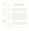 Chemicals and science vector image
