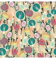 Colorful floral seamless pattern vector image vector image