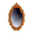 round mirror vector image