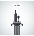 wine bottle glass classic design background vector image vector image
