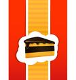 Piece of a pie card vector image