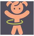 Kids activities icon vector image vector image