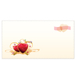 old-fashioned valentine card vector image