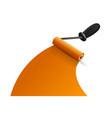 orange paintbrush roller vector image