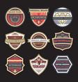original vintage brand isolated label set vector image