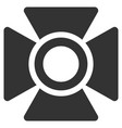 searchlight flat icon vector image