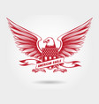sketched american eagle emblem design vector image