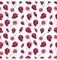 Lips Candies and Ice Cream Seamless Pattern vector image