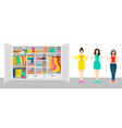woman outfit elements concept vector image
