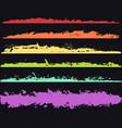 grunge brush strokes hand drawn edgesborders vector image