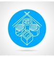 Sushi menu blue icon vector image
