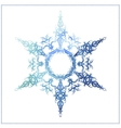 watercolor snowflake on a white background vector image