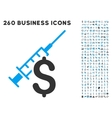 Narcotic Business Icon with Flat Set vector image