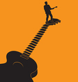 Guitar Stairs vector image
