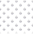 Cup of coffee pattern cartoon style vector image