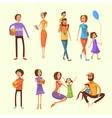 Family Cartoon Set vector image