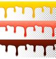 honey jam chocolate seamless transparent drips vector image