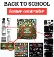 Back To School Banner Constructor vector image vector image
