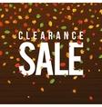 Sale Hand lettering Design Template Leaf vector image